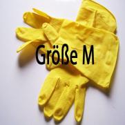 Haushaltshandschuhe gelb; 12 Paar im Pack; Größe M