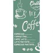 Linclass-Serviette COFFEE TIME ANTHRAZIT 33 x 33 cm 1/8-Falz