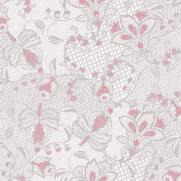 Linclass-Serviette DION GRAU-ROSA 40 x 40 cm