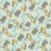 Tischdecke aus Linclass HENNES BLAU-GRAU 80 x 80 cm