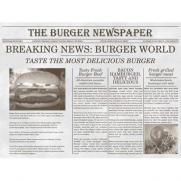 Tischset NEWSPAPER GRAU aus Papier 40 x 30 cm