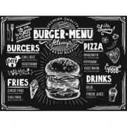 Tischset BURGER MENU aus Papier 40 x 30 cm