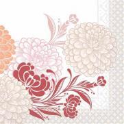 Tissue-Serviette CLARISSA BORDEAUX 33 x 33 cm