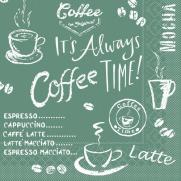 Tissue-Serviette COFFEE TIME ANTHRAZIT 25 x 25 cm
