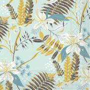 Tissue-Serviette HENNES BLAU-GRAU 33 x 33 cm