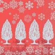Tissue-Serviette MOIRA ROT 33 x 33 cm