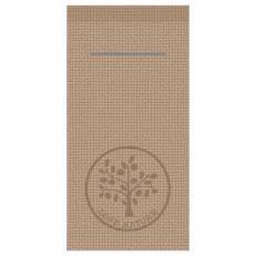 Besteckserviette LOVE NATURE-JUTE BEIGE-GRAU 40 x 40 cm 1/8-Falz