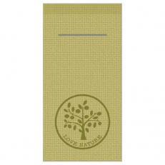 Besteckserviette LOVE NATURE-JUTE OLIV 40 x 40 cm 1/8-Falz