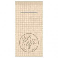Besteckserviette LOVE NATURE-JUTE PEBBLE STONE 40 x 40 cm 1/8-Falz