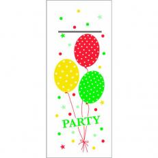 Besteckserviette PARTY BALLONS ROT-GRÜN 40 x 33 cm 1/8-Falz
