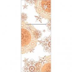 Bestecktaschen STERNENSCHEIN aprikot-terrakotta aus Linclass; 600 Stück im Karton
