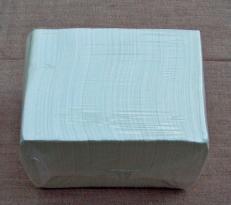 Zellstoff-Serviette weiß 2-lagig; 25 x 25 cm; 1/4 Falz, 3600 Stück im Karton