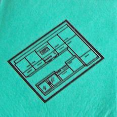 """Feuchtwischtuch grün mit Piktogramm """"Küche""""; 10 Stk. im Pack"""