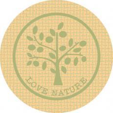 Glasabdecker LOVE NATURE JUTE GRÜN 74 mm