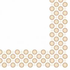 Linclass-Serviette ART-DECO-CIRCLES SAND  40 x 40 cm; 600 Stück im Karton