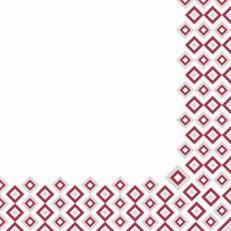Linclass-Serviette ART-DECO BORDEAUX-GRAU  40 x 40 cm; 600 Stück im Karton