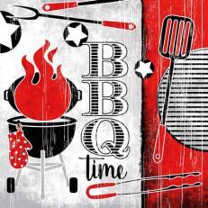 Linclass-Serviette BBQ-Time 33 x 33 cm