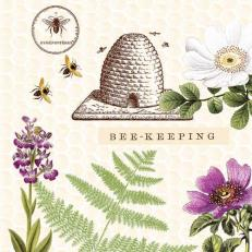 Linclass-Serviette BEE-KEEPING 40 x 40 cm
