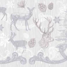 Linclass-Serviette BRUNO grau-silber 48 x 48 cm; 500 Stück im Karton