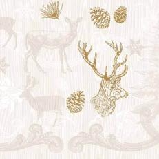 Linclass-Serviette BRUNO braun-gold 40 x 40 cm; 600 Stück im Karton