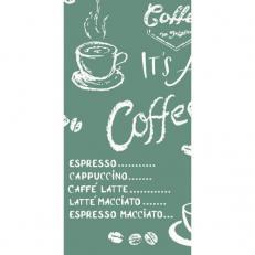 Linclass-Serviette COFFEE TIME ANTHRAZIT 33 x 33 cm 1/8-Falz