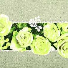 Linclass-Serviette LOVELY ROSES GELB 40 x 40 cm