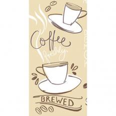 Linclass-Serviette TASTY COFFEE BRAUN 33 x 33 cm 1/8-Falz