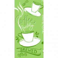 Linclass-Serviette TASTY COFFEE OLIV 33 x 33 cm 1/8-Falz