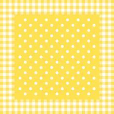 Airlaid+Folie-Mitteldecken 80 x 80 cm; 50 Stück im Karton; Typ: ANTON gelb