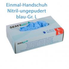 Nitril Schutzhandschuhe BLAU puderfrei; Gr. L; 100 Stk. im Pack