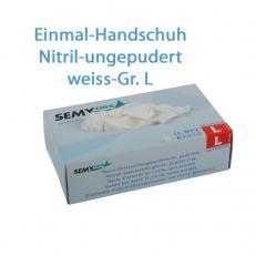 Nitril Schutzhandschuhe puderfrei; Größe L; 100 Stk. im Pack
