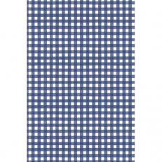 Tischdeckenrolle KARO BLAU aus Papier, 120 cm x 25 lfm, 9 Rollen im Karton