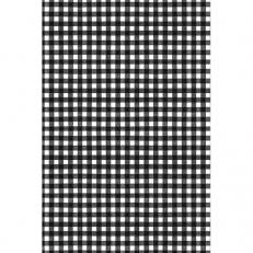 Tischdeckenrolle KARO SCHWARZ aus Papier, 120 cm x 25 lfm, 9 Rollen im Karton