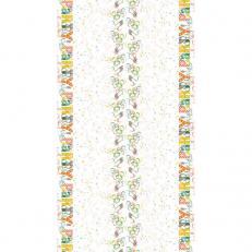 Tischdeckenrolle LET´S PARTY GRÜN-BRAUN aus Papier, 120 cm x 25 lfm, 9 Rollen im Karton