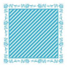 Papier-Tischdecken BAYERN 80 x 80 cm; 100 Stück im Karton