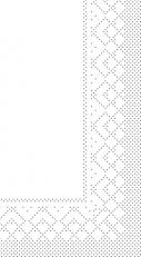 Zellstoff-Serviette weiß 40 x 40 cm; 2-lagig; 1/8 Falz; 1000 Stk. im Karton