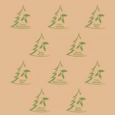 Recycling-Softpoint-Serviette BRAUN XMAS 40 x 40 cm