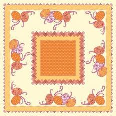 Tischdecke aus Linclass ANDY GELB 80 x 80 cm