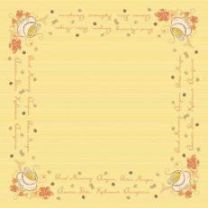 Tischdecken SUNNY NEW DAY aus Airlaid+Folie beschichtet 80 x 80 cm; 50 Stück im Karton