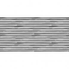 Linclass-Tischläufer BEA SCHWARZ 40 cm breit