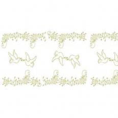 Linclass-Tischläufer HOCHZEIT CREME-GOLD 40 cm breit