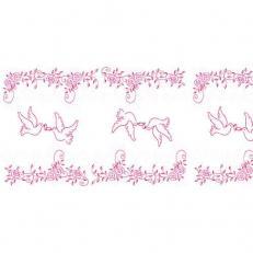 Linclass-Tischläufer HOCHZEIT ROSA-BORDEAUX 40 cm breit