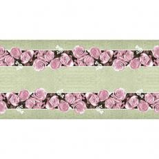Linclass-Tischläufer LOVELY ROSES ROSA 40 cm breit
