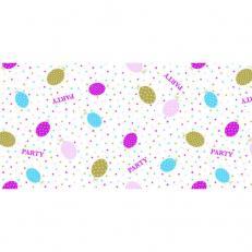 Linclass-Tischläufer PARTY BALLONS PINK-GOLD 40 cm breit
