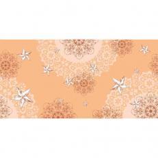 Linclass-Tischläufer STERNENSCHEIN aprikot-terrakotta 40 cm x 24 m; 4 Rollen im Karton