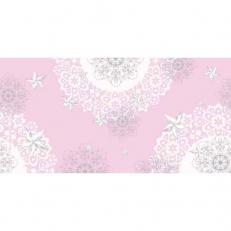 Linclass-Tischläufer STERNENSCHEIN rose-silber 40 cm x 24 m; 4 Rollen im Karton