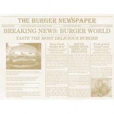 Tischset NEWSPAPER BEIGE aus Papier 40 x 30 cm