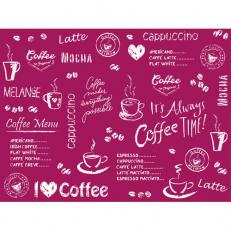 Tischset aus Linclass COFFEE TIME BORDEAUX 40 x 30 cm