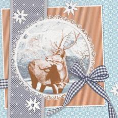 Tissue Serviette Deluxe 40 x 40 cm; Typ: FINN blau; 600 Stück im Karton