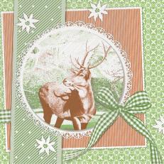 Tissue Serviette Deluxe 40 x 40 cm; Typ: FINN grün; 600 Stück im Karton